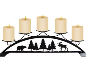 Moose & Bear – Table Top Pillar Candle Holder