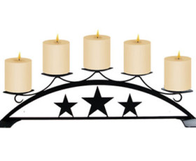 Star – Table Top Pillar Candle Holder