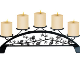 Pinecone – Table Top Pillar Candle Holder