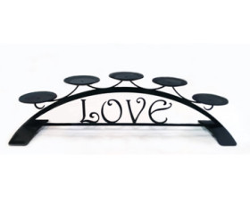 Love – Table Top Pillar Candle Holder