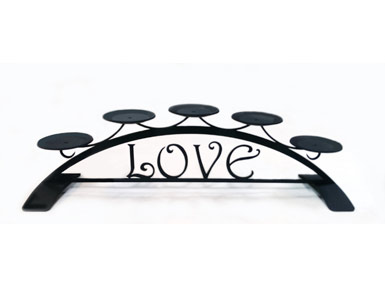 Love Table Top Pillar Candle Holder Habitatter Com