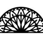 Solid Wrought Iron Wall Art Style 196