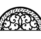 Solid Wrought Iron Wall Art Style 197