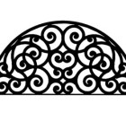 Solid Wrought Iron Wall Art Style 198