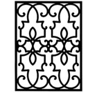 Solid Wrought Iron Wall Art Style 199