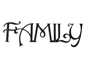 Solid Wrought Iron Wall Art – FAMILY