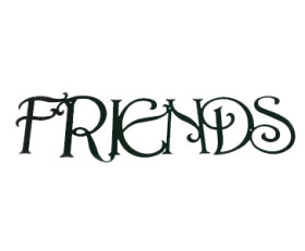 Solid Wrought Iron Wall Art – FRIENDS