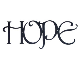Solid Wrought Iron Wall Art – HOPE