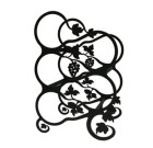 Solid Wrought Iron Grapevine Wine Rack
