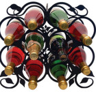 Solid Wrought Iron Leaf Wine Rack