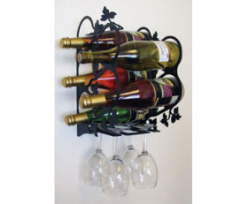 Solid Wrought Iron Grapevine Wine Rack – Wall Mount