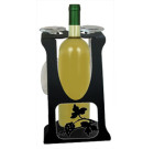 Solid Wrought Iron Grapevine Design – Wine Holder Caddy for Four