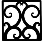 Solid Wrought Iron Wall Art Style 208