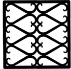 Solid Wrought Iron Wall Art Style 209