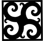 Solid Wrought Iron Wall Art Style 211
