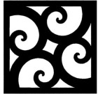 Solid Wrought Iron Wall Art Style 212