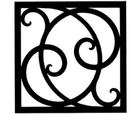 Solid Wrought Iron Wall Art Style 215
