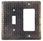 Crosby & Taylor Checkers Solid Pewter Switch Plate
