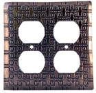 Crosby & Taylor Squares Solid Pewter Switch Plate