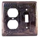 Crosby & Taylor Leonard Solid Pewter Switch Plate