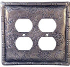 Crosby & Taylor Botanical Solid Pewter Switch Plate