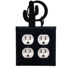 Cactus and Sun Wrought Iron Wall Switchplate – Double Outlet