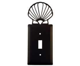 Scalloped Shell Wrought Iron Wall Switchplate – Single Toggle