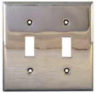 Charleston Hardware Nickle Plated Solid Brass Switchplate – Double Toggle