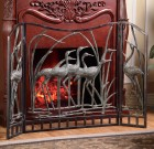 Crane Flock Fireplace Screen – Aluminum