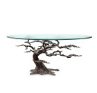 Cypress Tree Coffee Table – Aluminum, Iron & Glass