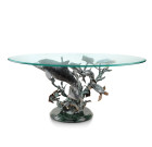 Dolphin Seaworld Coffee Table – Brass & Glass
