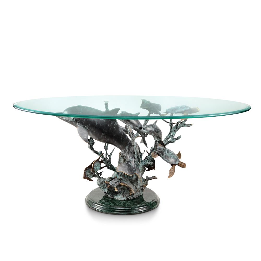 dolphin seaworld coffee table | decorative home hardware