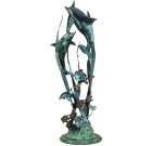 Dolphin Seaworld Seascape Sculpture – Brass