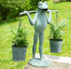 Farmer Frog Planter Holder – Aluminum