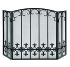 Fleur de Lis Rail Fireplace Screen – Iron