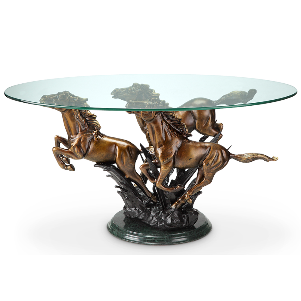 Horse coffee table rascalartsnyc galloping horse trio coffee table decorative home hardware geotapseo Images