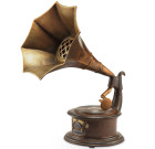 Gramophone Garden Sculpture with Bluetooth Speaker