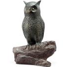 Hooting Owl Garden Sculpture with Bluetooth Speaker
