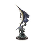 Majestic Sailfish Sculpture – Brass