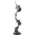 Marlin and Sailfish Seascape Sculpture – Brass