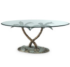Palm Tree Coffee Table – Aluminum & Glass