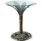 Palm Tree End Table – Aluminum & Glass