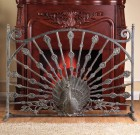 Peacock Fireplace Screen – Aluminum