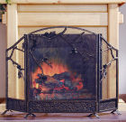 Pinecone Fireplace Screen – Cast Iron