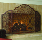 Provincial Fireplace Screen- Iron