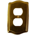Brass Accents Colonial Style Polished Brass Switchplate