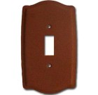 Brass Accents Colonial Style Weathered Rust Switchplate