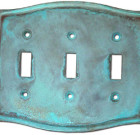 Brass Accents Colonial Style Verdigris Switchplate