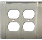 Brass Accents Contemporary Style Satin Nickel Switchplate