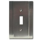Brass Accents Contemporary Style Chrome Switchplate